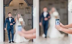 Ảnh chụp đám cưới bỗng thành thảm họa xóa phông vì sự hiện diện của một chiếc iPhone