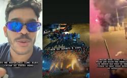 """Hóa ra video drone bắn pháo hoa hôm qua là """"hàng dựng"""", nhóm thanh niên Brazil làm ra nó còn cầm pháo hoa lùa nhau trên phố như thế này cơ!"""