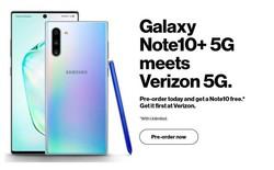Dòng Note 10 chưa ra mắt nhà mạng Verizon đã rục rịch chạy khuyến mại mua Note 10+ 5G tặng miễn phí 1 chiếc Note 10