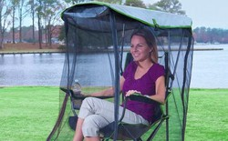 Đi chơi picnic mà sợ ruồi muỗi, sắm ngay chiếc ghế kèm màn chống côn trùng dưới đây