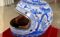 Chiếc mũ bảo hiểm có 1-0-2 làm theo cảm hứng từ làng gốm, khiến dân mạng vừa buồn cười vừa lo lắng sợ đội xong là trẹo cổ