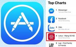 Lotus lọt Top 4 ứng dụng AppStore về mạng xã hội tại Việt Nam