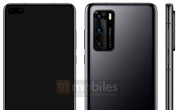 """Huawei P40 lộ ảnh render: Màn hình """"nốt ruồi"""" như Galaxy S10+, cụm 3 camera chính giống Galaxy S20"""