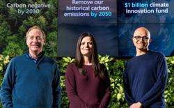 Microsoft cam kết giảm lượng carbon thải ra, đầu tư 1 tỷ USD vào công nghệ thu thập và lưu trữ CO2 trong không khí