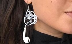 Internet thích thú với mẫu khuyên tai làm từ EarPods bị rối dây, có giá gần 1 triệu đồng