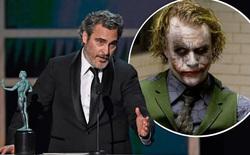 """Tiếp tục thắng giải lớn, Joaquin Phoenix xúc động tri ân """"Joker"""" Heath Ledger: Thành công hôm nay của tôi đến từ những gì Heath đã làm được trước đó"""