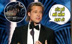 """Lên nhận giải Quả cầu vàng 2020, Brad Pitt cảm ơn bạn diễn DiCaprio bằng cách """"cà khịa"""" cái kết của Titanic"""