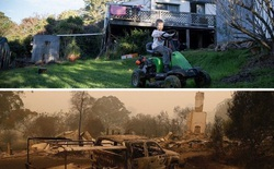 Chùm ảnh đau lòng: Nước Úc trước và sau khi ngọn lửa hung tàn quét qua