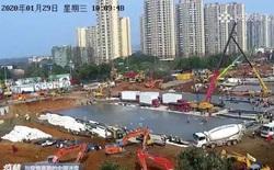 Hàng triệu người Trung Quốc thức trắng đêm xem livestream quá trình xây dựng bệnh viện dã chiến chống virus corona