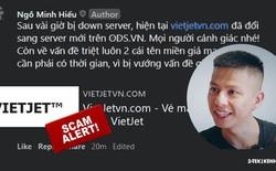 """Sau khi bị đánh sập, trang web giả mạo Vietjet Air lại bất ngờ """"hồi sinh"""", Hieupc phát cảnh báo ẩn ý sẽ """"triệt luôn"""" tên miền này!"""