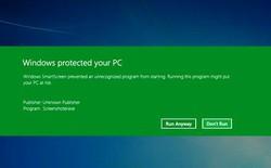 Giao diện SmartScreen của Windows 8 có thể tiết lộ đời tư của người dùng