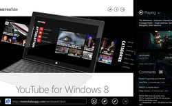 Ứng dụng xem Youtube nổi tiếng Metrotube 'cập bến' Windows 8/RT