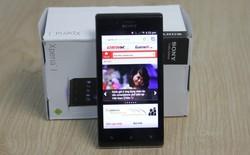 Đập hộp smartphone tầm trung Xperia J tại VN