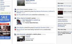 Các giai đoạn phát triển của giao diện News Feed