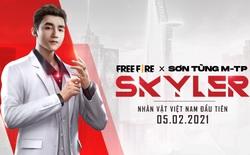 Skyler - nhân vật Việt Nam đầu tiên - lấy cảm hứng từ Sơn Tùng M-TP chính thức xuất hiện trong Free Fire từ ngày 05/02/2021
