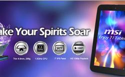 """MSI cũng tham gia sản xuất tablet """"siêu rẻ"""""""