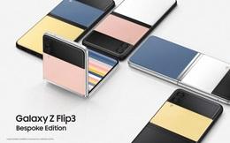 Samsung ra mắt Galaxy Z Flip3 Bespoke Edition: Người dùng được tự ý tuỳ chỉnh màu sắc máy theo sở thích, giá 1099 USD