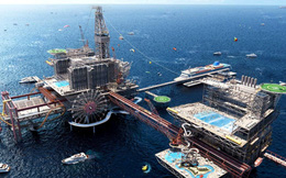Ả Rập xây công viên siêu giải trí 150.000 mét vuông trên giàn khoan dầu, khách đến chơi phải đi bằng thuyền hoặc trực thăng