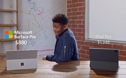 """Quảng cáo Surface Pro 7 mới nhất của Microsoft tiếp tục lôi iPad Pro ra làm """"trò đùa"""""""