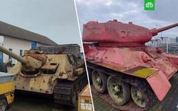 Tin lời cảnh sát, một người Séc mang cả xe tăng hồng cùng pháo tự hành đến đăng ký sở hữu