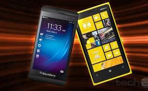Nokia Lumia có doanh số bán ra cao hơn BlackBerry