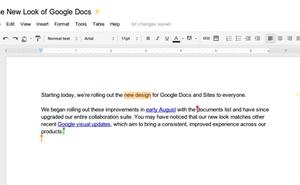 Google Docs có giao diện mới, cho lưu văn bản tức thì