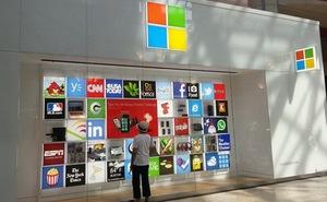 Hình ảnh đầu tiên của Microsoft Store với logo mới