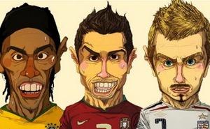 Khi những siêu sao bóng đá lên tranh biếm họa