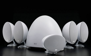 Độc đáo loa hình trứng KEF E305
