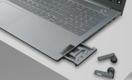 Lenovo ra mắt laptop tích hợp sẵn... khay đựng tai nghe