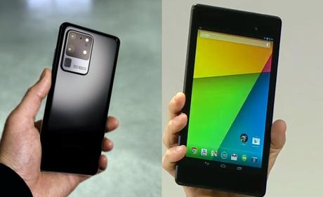 Hỏi vui: Galaxy S20 Ultra màn hình 6.9 inch, Nexus 7 màn hình 7 inch, tức là 2 màn hình lớn như nhau à?