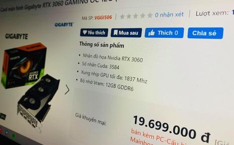 """Card đồ hoạ mới của NVIDIA bị """"thổi giá"""" gấp 3 lần tại VN"""