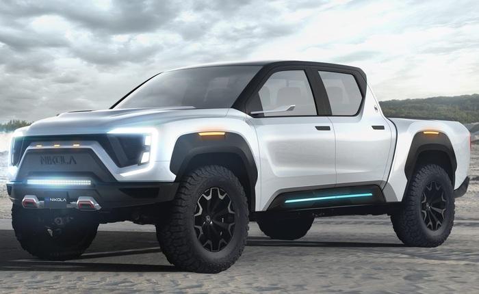 """Xe bán tải điện đối thủ của Tesla Cybertruck lộ diện: """"trâu"""" hơn, thiết kế nội thất như xe tương lai"""