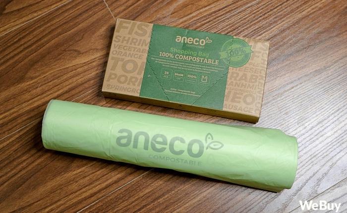 Dùng thử túi nilon AnEco: Made in Việt Nam, làm từ nhựa sinh học, phân hủy 100% thành mùn nuôi cây, nước và CO2