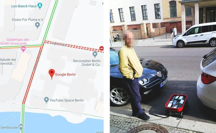 Anh họa sĩ ung dung kéo 99 chiếc smartphone đi dạo phố để tạo ra tình trạng tắc đường giả trên Google Maps