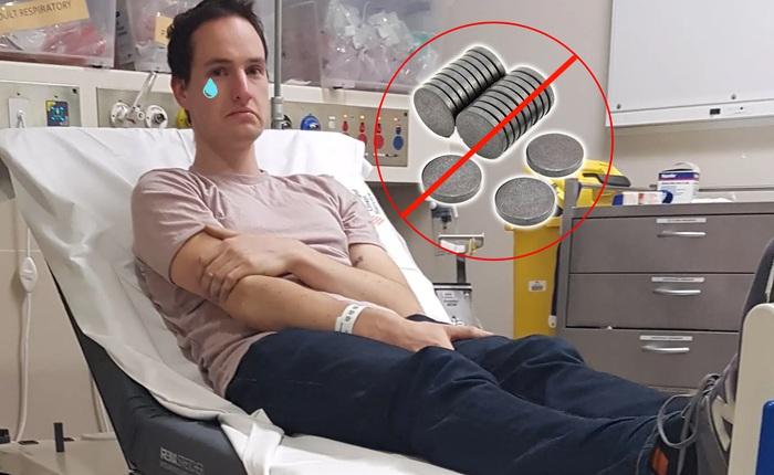 Nhà khoa học tự chế hệ thống cảnh báo mỗi khi sờ tay lên mặt, chưa đâu vào đâu thì bị tắc luôn cục nam châm trong mũi