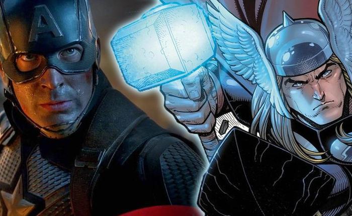 Điểm danh nhân vật Marvel cầm được búa Mjolnir: có người ăn gian bằng cách một tay cầm búa, một tay cầm đầu Thor