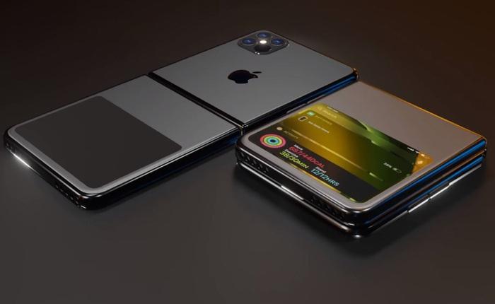 """Thêm 1 concept khó tin của iPhone 12 với màn hình gập kiểu vỏ sò, không còn """"tai thỏ"""""""