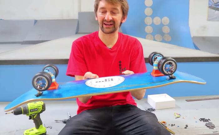 YouTuber chế chiếc ván trượt với bộ bánh xe 700 USD của Mac Pro, nhìn thì đẹp nhưng lại khá vô dụng