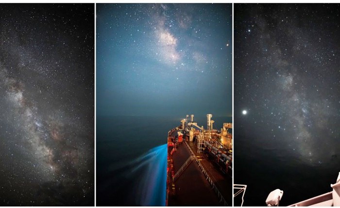 Theo đuổi đam mê chụp ảnh thiên văn trên tàu chở hàng giữa biển khơi bao la