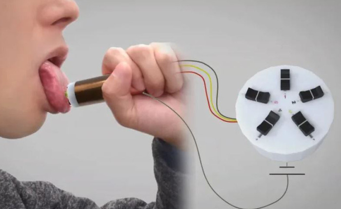 Chỉ cần liếm thiết bị này, người dùng có thể nếm đủ thứ mùi vị họ muốn mà không cần ăn bất kì 1 loại thực phẩm nào