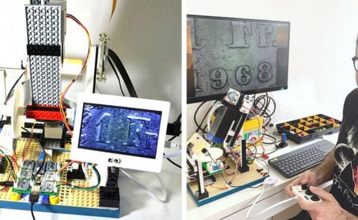 Kỹ sư IBM chế tạo kính hiển vi làm từ Lego, Arduino và Raspberry Pi, giá chỉ 300 USD