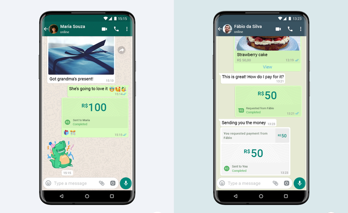 WhatsApp - công ty con của Facebook - ra mắt hệ thống thanh toán trong ứng dụng tại Brazil