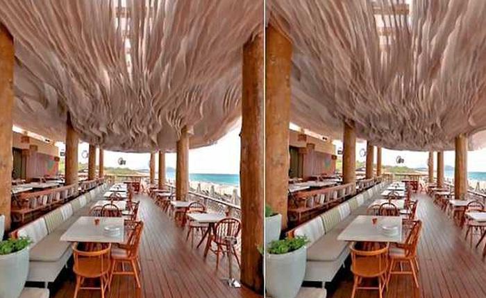 Không cần đến điều hòa, trần nhà của nhà hàng này có thể chuyển động kiểu lượn sóng để làm mát cho thực khách