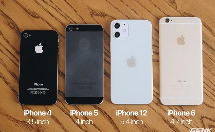 So sánh iPhone 12 5.4 inch với iPhone 4, iPhone 5 và iPhone 6: Chiếc iPhone nhỏ gọn đáng để chờ đợi