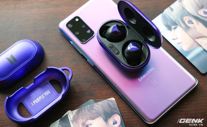 Mở hộp tai nghe Galaxy Buds+ phiên bản BTS: Hộp sản phẩm to bất ngờ, bóc mỏi tay mới biết có nhiều quà kèm theo dành cho A.R.M.Y