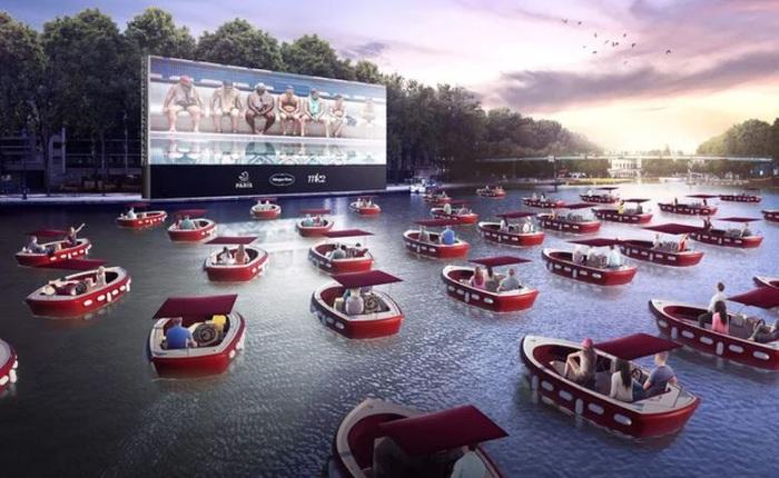Pháp chuẩn bị mở rạp chiếu phim tạm thời trên sông, khán giả sẽ ngồi trong các du thuyền riêng biệt để thực hiện giãn cách xã hội