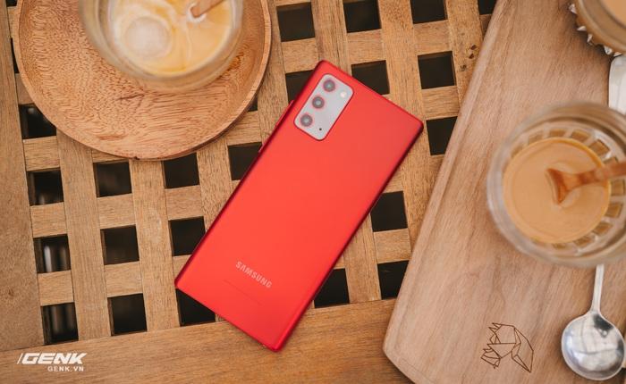 Ngắm Samsung Galaxy Note20 'Mystic Red' bản Hàn Quốc, chạy vi xử lý Snapdragon 865+