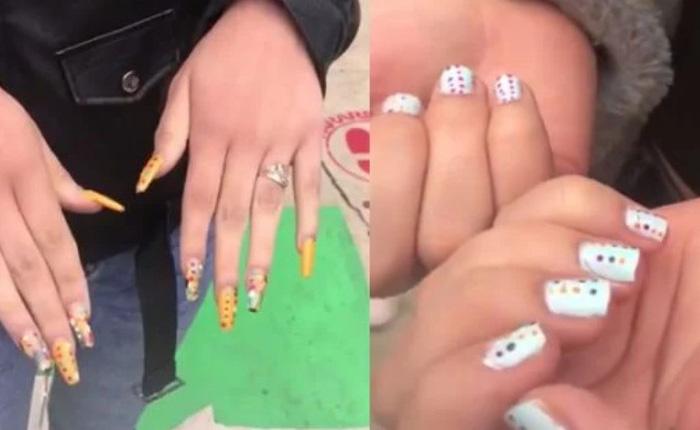 Chiêu trò gian lận thi cử mới của các chị em: Dùng sơn móng tay để ngụy trang cho đáp án