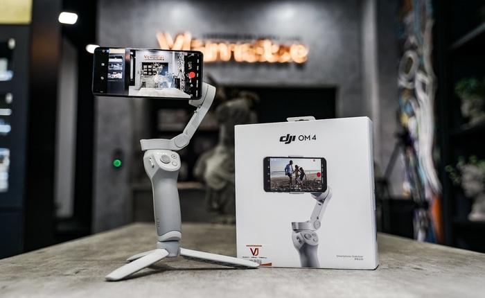 Gimbal DJI OM 4 dành cho smartphone: Kẹp giữ nam châm tiện lợi, nhiều cải tiến, giá chỉ hơn 3 triệu